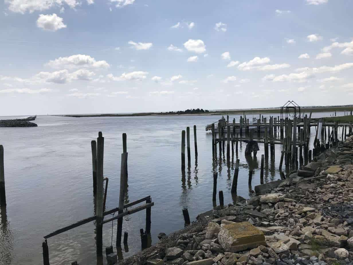A long view of the restoration at Mispillion Harbor. PHOTO BY MEG MCGUIRE