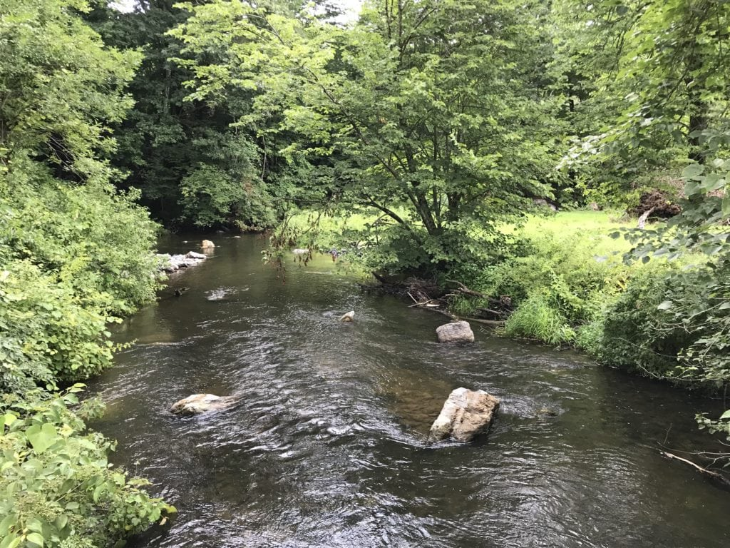 """The """"new"""" Cherry Creek after it's been naturalized and made attractive for trout. PHOTO BY MEG MCGUIRE"""
