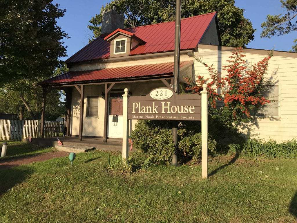 The Plank House, said to be the oldest building in Marcus Hook. There's a celebration of its piratical past every fall in Marcus Hook. PHOTO BY MEG MCGUIRE