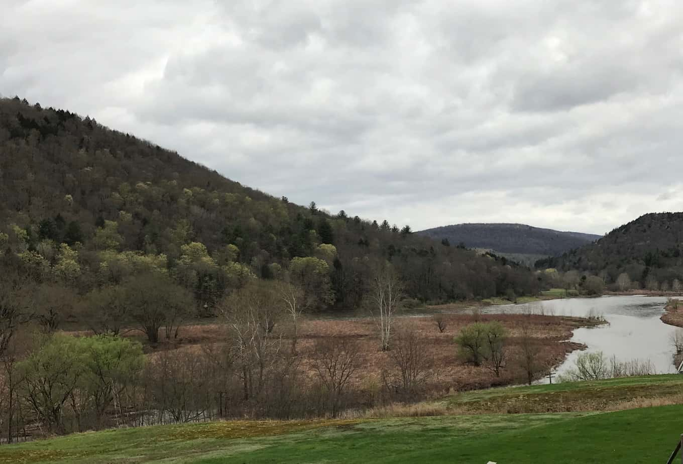 The Delaware River just south of Hancock, N.Y.,  PHOTO BY MEG MCGUIRE