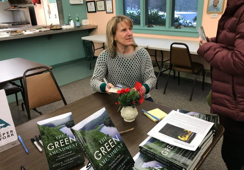 Maya Van Rossum at a book signing in Eldred, N.Y. on Dec. 16, 2017 for her new book 'The Green Amendment: Securing Our Right to a Healthy Environment.'