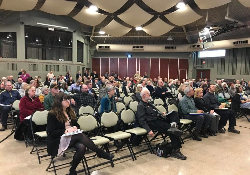 Audience at the afternoon hearing at Waymart, Pa. on the DRBC's proposed fracking ban — at Ladore Retreat and Conference Center.
