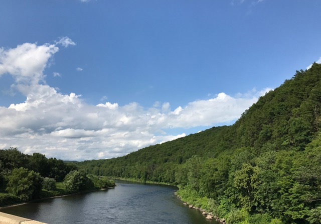 Looking upriver fromthe Delaware Water Gap. This great river is the sum of its parts — finding the right balance for those parts is the job of the 4 border states and New York City. That's why the failure of all parties to agree to a new Flexible Flow Management Plan is such a disservice to the river and the people who rely on it.MEG McGUIRE PHOTO