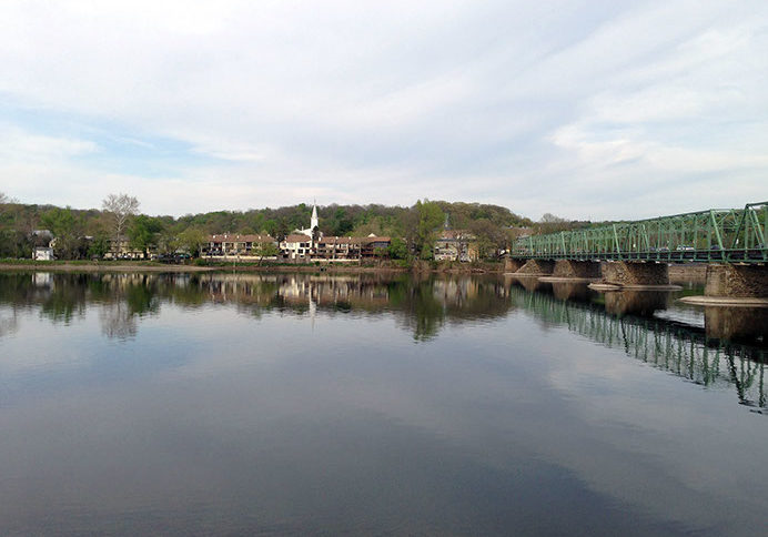 Looking at Lambertville, N.J. across the Delaware River from New Hope, Pa. PHOTO BY MEG McGUIRE